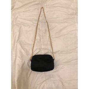 H&M Textured Velvet Crossbody Bag